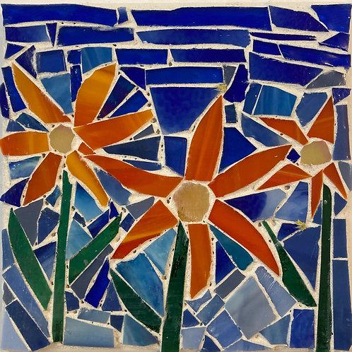 Bright Flowers Mosaic