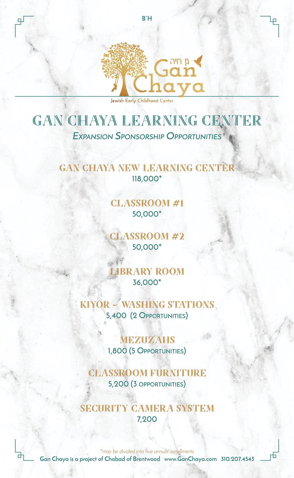 Gan Chaya Learning Center Fundraising.jp