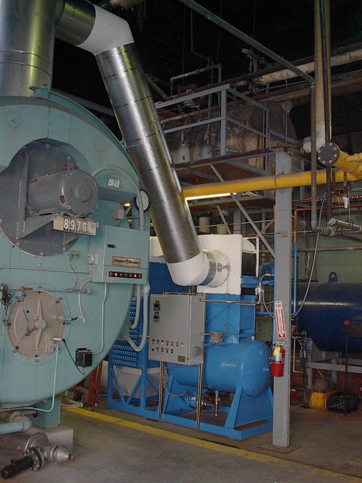 Heating boiler plant.
