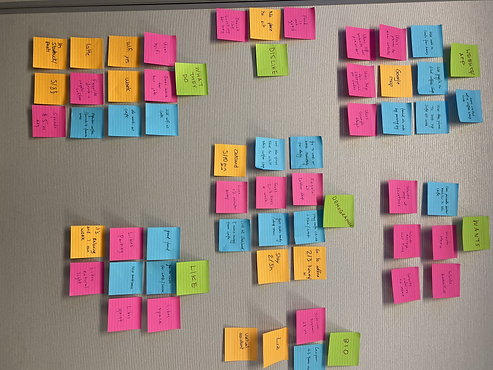 ​ We built our Affinity Diagram