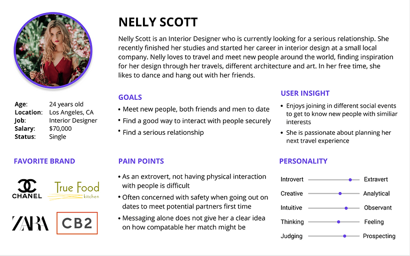 We created two personas with Nelly Scott and Jordy Landson.