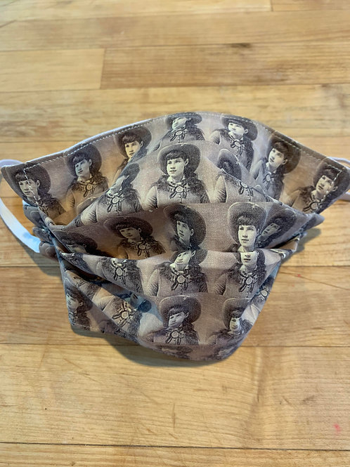 Annie Oakley Face Mask