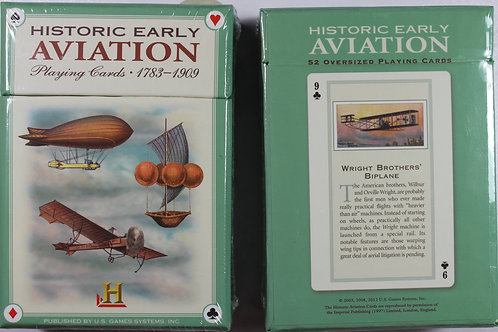Historic early aviation playing card deck