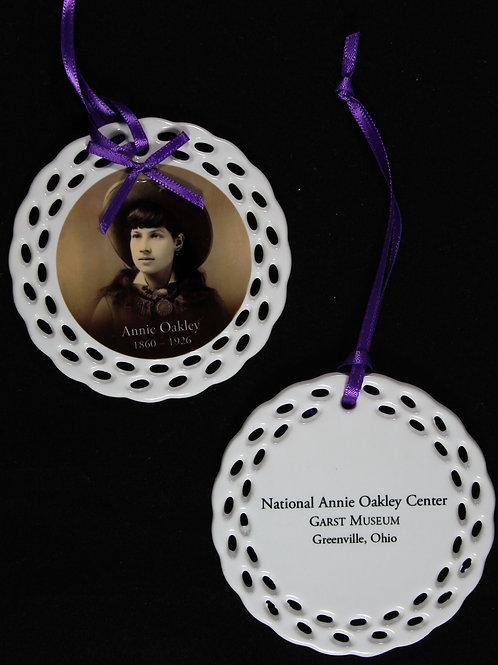 Annie Oakley Ceramic Christmas Ornament