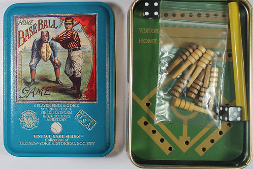 Game of baseball tin