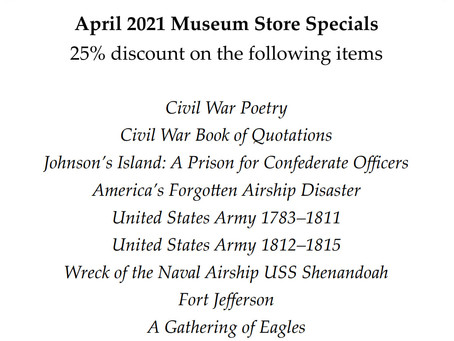 Garst Museum Store Monthly Specials