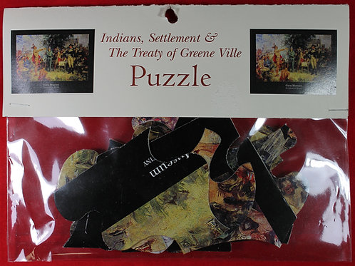 Treaty of Greene Ville painting large piece jigsaw puzzle