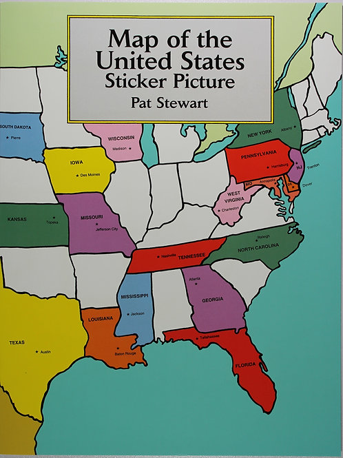 Map of the United States Sticker Picture Book