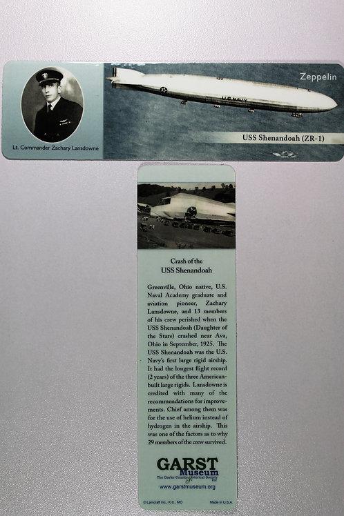 Zachary Lansdowne and the USS Shenandoah bookmark
