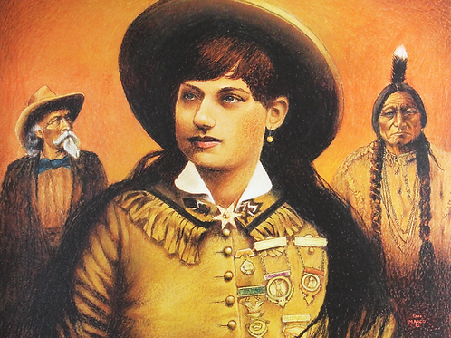 Don Marco print of Annie Oakley, Buffalo Bill and Sitting Bull
