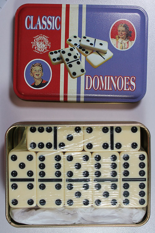Classic Dominoes Tin