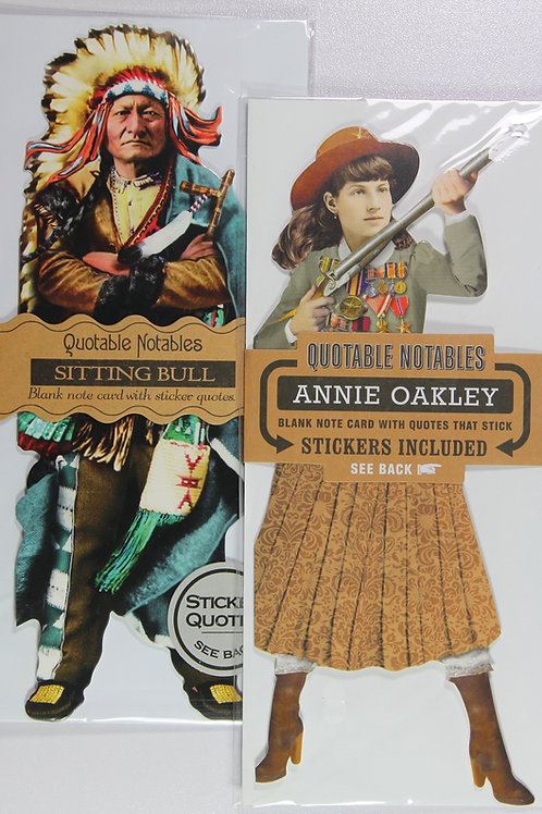 Annie Oakley and Sitting Bull Quotable Notables Note Cards