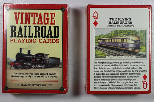 Vintage Railroad card deck