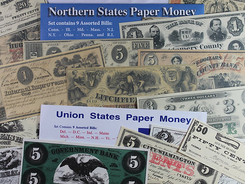 Northern and Union States replica currency