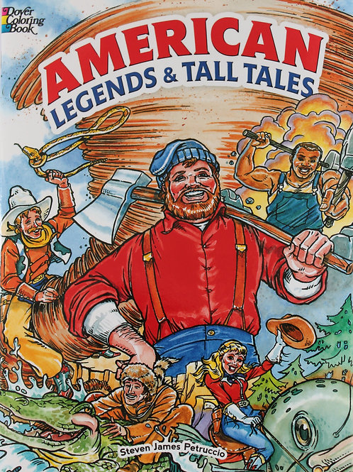 American Legends and Tall Tales Coloring Book