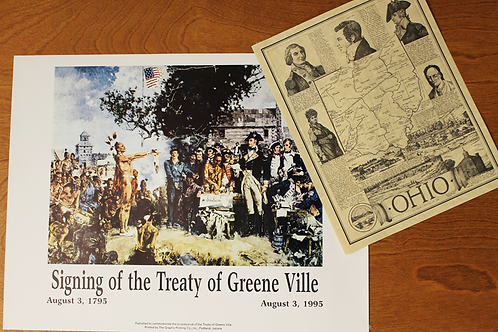Treaty of GreeneVille and Ohio Parchment Posters