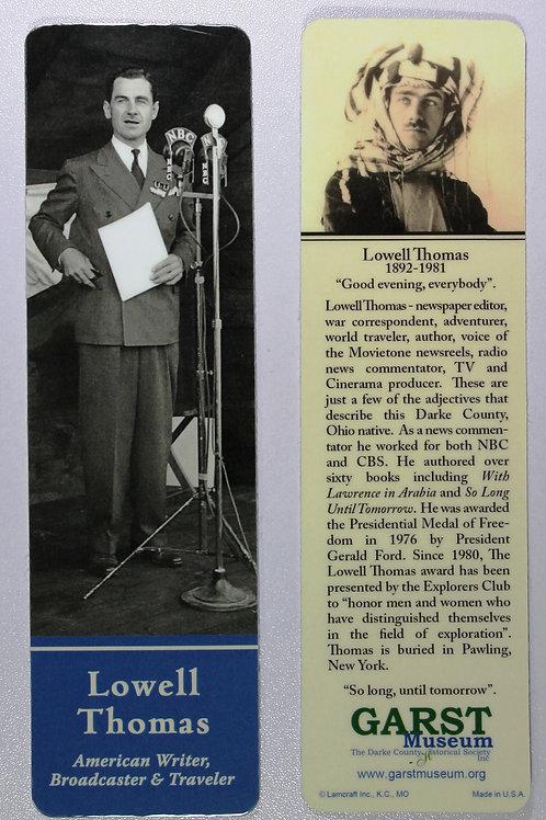 Lowell Thomas bookmark