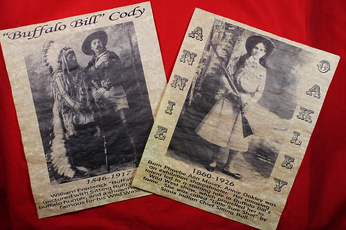 Annie Oakley, Buffalo Bill, and Sitting Bull Posters