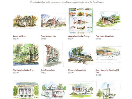 """Don Mong """"Greenville My Hometown"""" Artwork Now Available Online at The Museum Store at Garst Museum"""