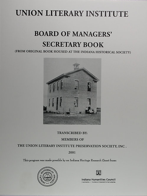 Union Literary Institute-Board of Management Secretary Book