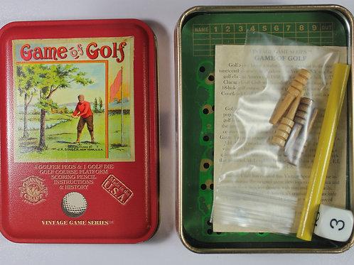 Game of golf tin