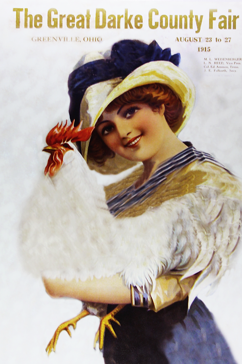 Girl with Chicken, 1915