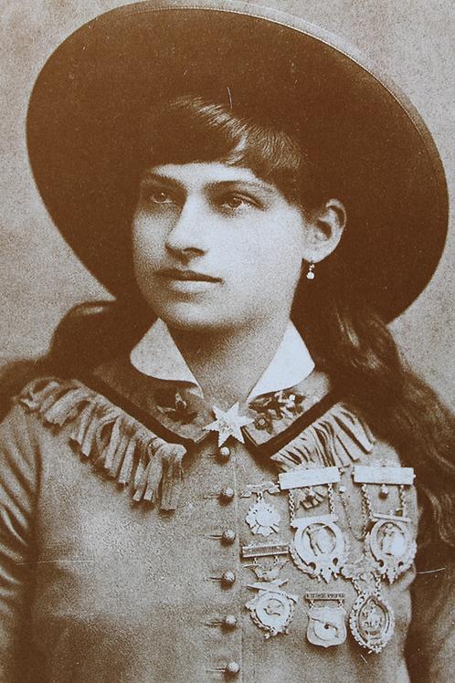 Annie Oakley with Star Brooch
