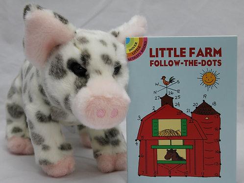 Pauline Pig and Little Farm Follow the Dots Little Activity Book