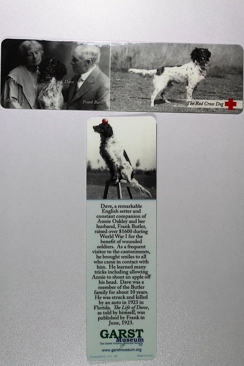 Dave the Red Cross dog bookmark