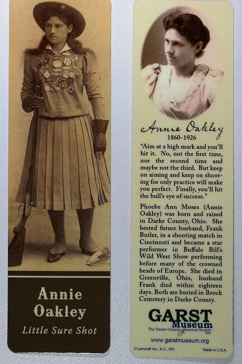 Annie Oakley bookmark