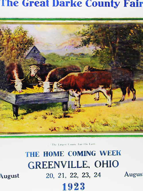 Cattle at Water Trough, 1923