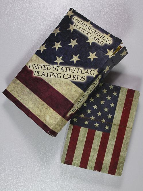 Rustic United States Flag card deck