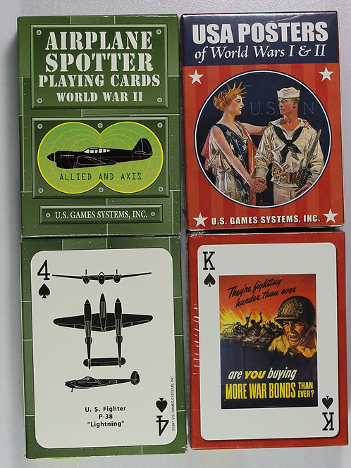 Two American military themed card decks