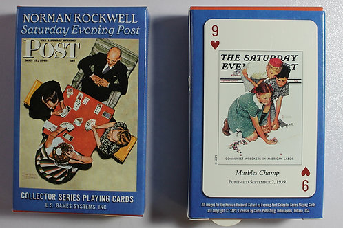 Norman Rockwell Saturday Evening Post card deck