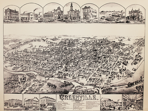 1886 Map of Greenville, Ohio