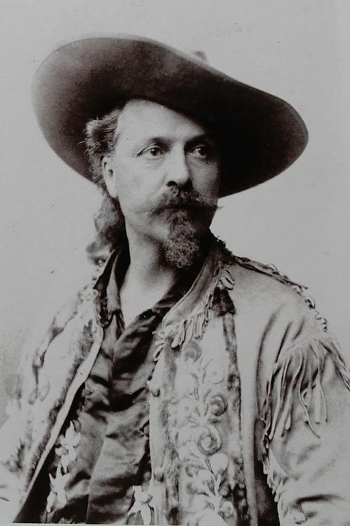"""Buffalo Bill"" F. Cody wearing a fringed jacket"