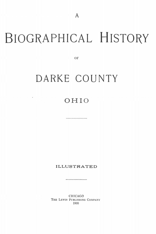 Biographical History of Darke County Ohio 1900