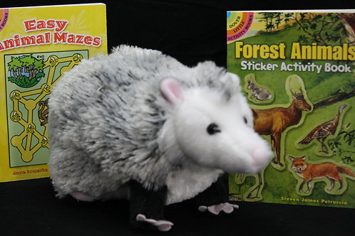 Oliver Opossum and 2 Little Activity Books-Easy Animal Mazes and Forest Animals
