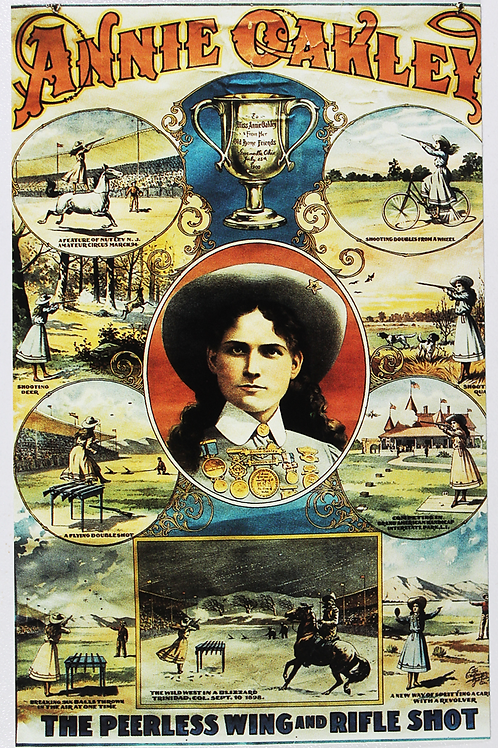 Annie Oakley-The Peerless Wing & Rifle Shot Poster