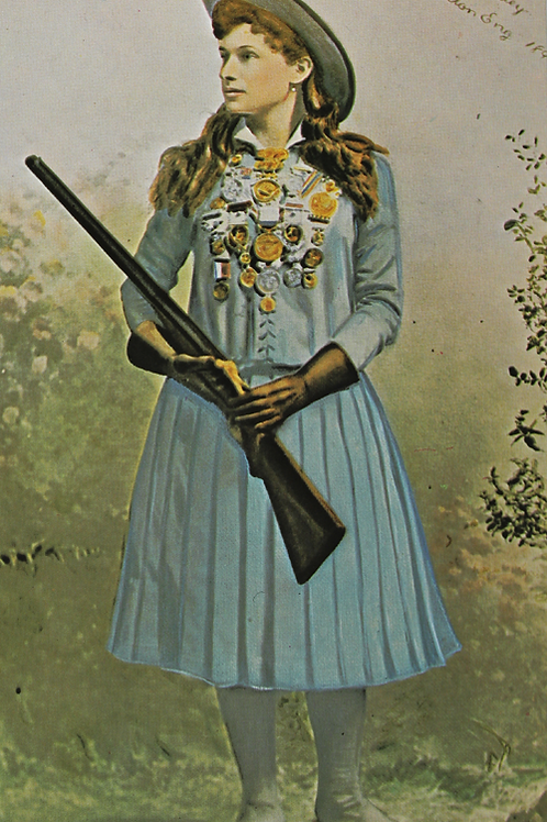 Annie Oakley Colorized Photo