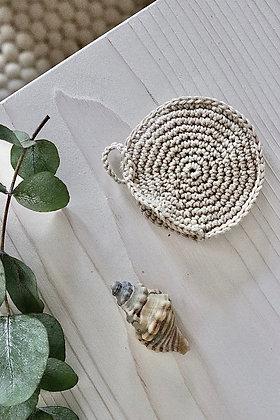 Seifensackerl aus Bio-Baumwolle in beige von oben