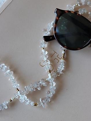 Maskenband und Brillenkette Kamala aus Bergkristall