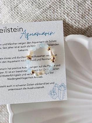 HANNI   Ring aus Heilstein Aquamarin