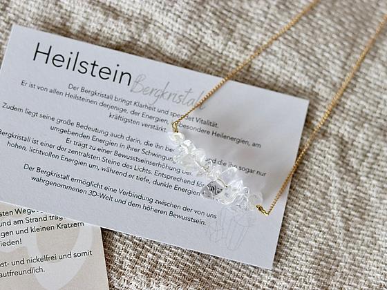 THE YOGI   Heilstein Bergkristall Halskette (wasserfest)