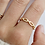 Thumbnail: JOSY   Größenverstellbarer Glieder-Ring 24k vergoldet