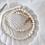 Thumbnail: CARLA | Choker aus runden Süßwasserperlen mit Wunsch-Initial