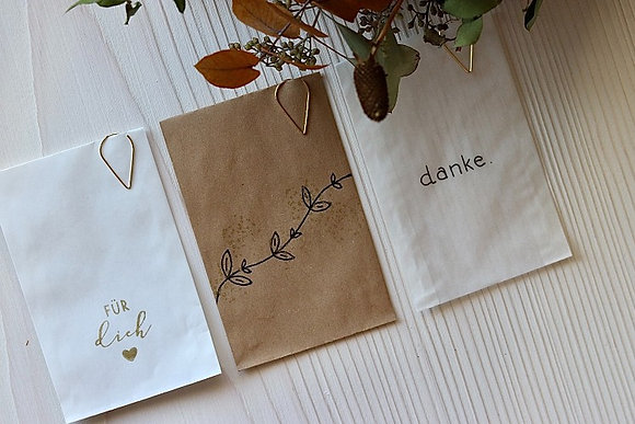 Papiersäckchen in verschiedenen Designs