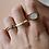 Thumbnail: KALA | Ring aus Süßwasserperlen und ZIer-Perle