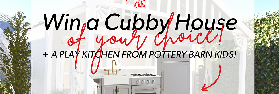 Cubby House + Kitchen Giveaway