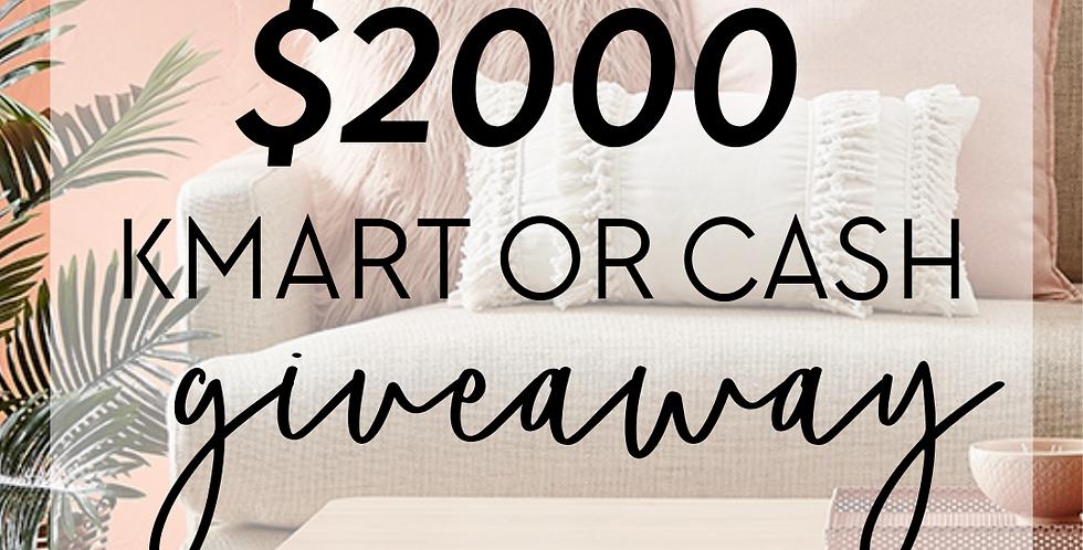 $2000 Kmart Giveaway